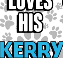 This guy loves his Kerry Blue Terrier Sticker