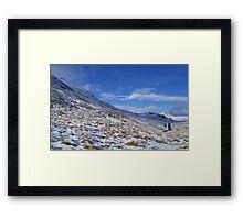 Snow road Framed Print