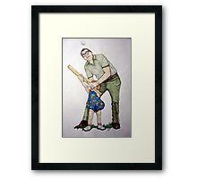 Batting Practice No 1 Framed Print