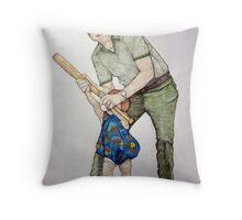 Batting Practice No 1 Throw Pillow