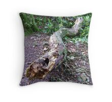 Fearsome Serpent (decaying fallen branch) Throw Pillow