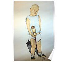 Boy On A Stickhorse Poster