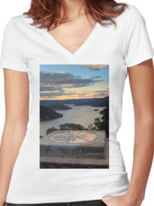 0152 Eildon Directions Women's Fitted V-Neck T-Shirt