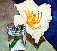 Day Lily in a Water Glass by eruthart