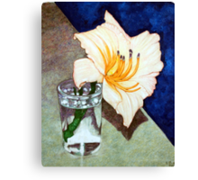 Day Lily in a Water Glass Canvas Print