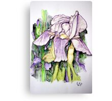 Iris Watercolor Canvas Print