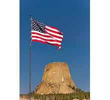 Sunrise over Devils Tower .2 Photographic Print