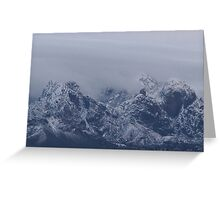 Snowstorm in the Rockies Greeting Card
