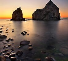 Sunset at Avlonas beach - Lemnos island by Hercules Milas