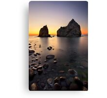 Sunset at Avlonas beach - Lemnos island Canvas Print