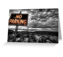 Good Parking Spot Greeting Card