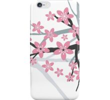 Sakura Wall Art Beautiful Oriental Vector Illustration iPhone Case/Skin