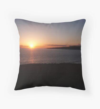 Cold Knap Sunset Throw Pillow