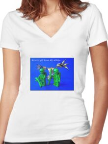 Be careful what you wish for, by Tim Constable Women's Fitted V-Neck T-Shirt