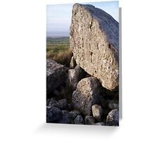 Arthur's Stone Burial Chamber. Greeting Card