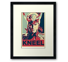 Loki - Kneel Framed Print