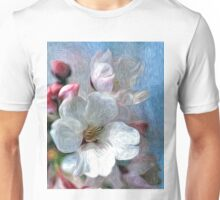 Asian Cherry Blossoms Oil Painting 2 Unisex T-Shirt