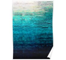 Blue Oil Painting Poster