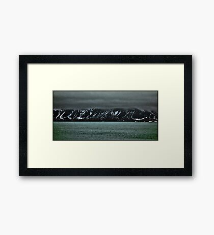 Storm clouds gather Framed Print