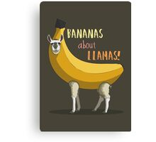Bananas About Llamas! Canvas Print