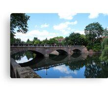 """Bridge over Calm Waters"" Canvas Print"