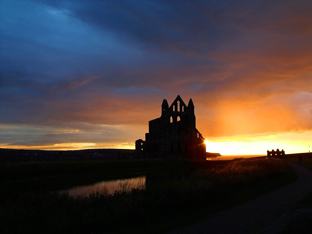 Whitby Abbey Sunset by charlylou