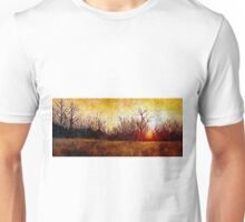 Woods Fire Oil Painting Unisex T-Shirt