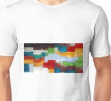 Squares Abstract Oil Painting Unisex T-Shirt