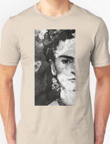 Black And White Frida Kahlo by Sharon Cummings Unisex T-Shirt