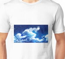 Blue Sky Clouds Oil Painting Unisex T-Shirt