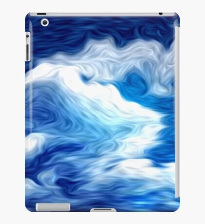 Blue Sky Clouds Oil Painting iPad Case/Skin