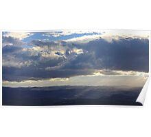 Sun Rays over the Kanimbla Poster