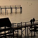 Sorrento Pier Silhouette by dazzleng