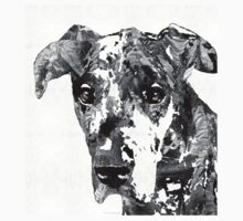 Black And White Great Dane Art Dog By Sharon Cummings Kids Clothes