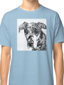 Black And White Great Dane Art Dog By Sharon Cummings Classic T-Shirt
