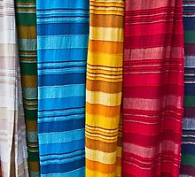 Pashminas or  Scarves - Camden Markets - London by Bryan Freeman