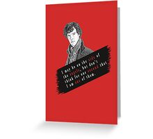 Sherlock Quote Angels Greeting Card