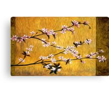 Asian Cherry Blossoms Oil Painting Canvas Print