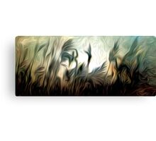 Night Meadow Oil Painting Canvas Print