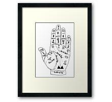 Twin Peaks Palmistry Framed Print