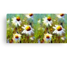 Field of Flowers Oil Painting Canvas Print