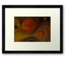 The evolution of the earth Framed Print