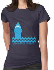 Shark Awareness Womens Fitted T-Shirt