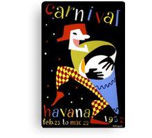Havana Carnival Vintage Travel Poster Canvas Print