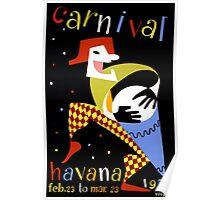 Havana Carnival Vintage Travel Poster Poster