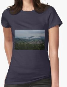 Low clouds - HDR Womens Fitted T-Shirt