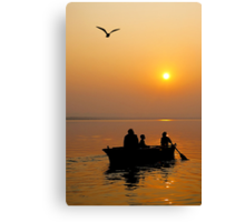 The Holy Ganga at Varanasi #2 Canvas Print