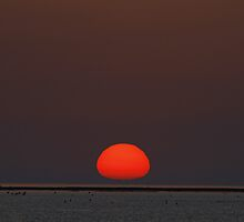 Orange Ball over the Rota Corrales by fototaker