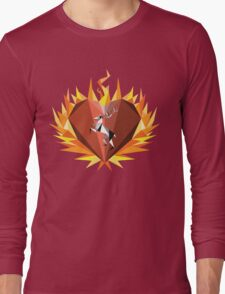 The Flaming Heart Long Sleeve T-Shirt