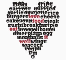 Love Food love heart by sledgehammer